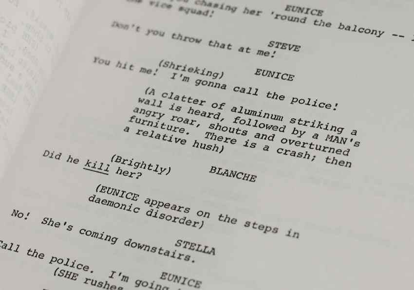 A Streetcar Named Desire Original Script.