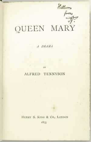 Queen Mary: A Drama.