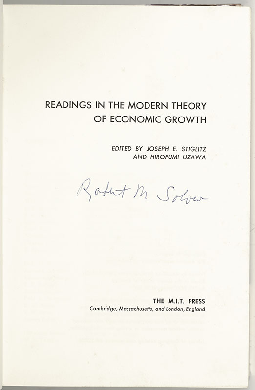 Readings in the Modern Theory of Economic Growth.