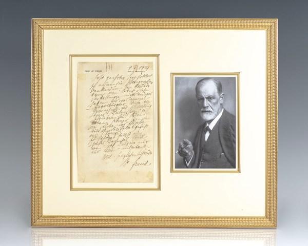 Sigmund Freud Autograph Letter Signed.