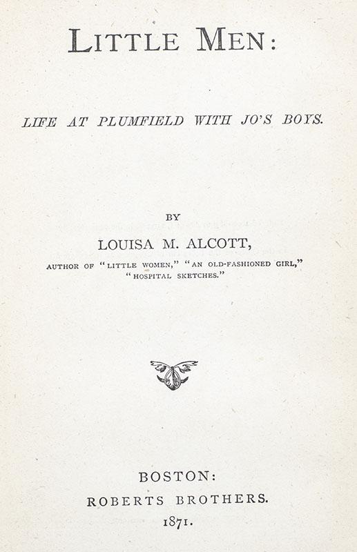Little Men: Life at Plumfield with Jo's Boys.