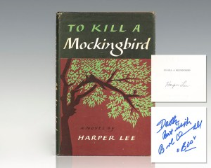 First book club edition of To Kill a Mockingbird; singed by Harper Lee and inscribed by Robert Duvall