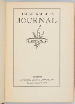Helen Keller's Journal 1936-1937.