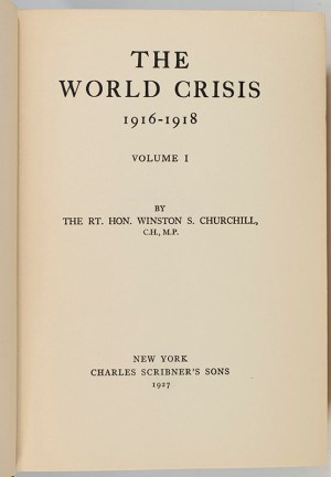 The World Crisis 1916-1918. Vol. I.