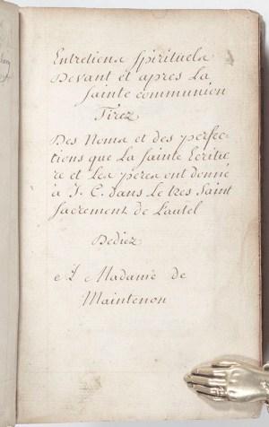 French Book of Prayer.