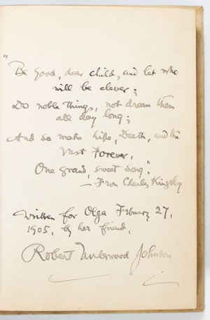 Theodore Roosevelt Signed and Inscribed Autograph Quotation Book.