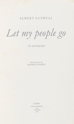 Let My People Go. An Autobiography.