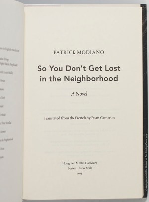 So You Don't Get Lost in the Neighborhood.