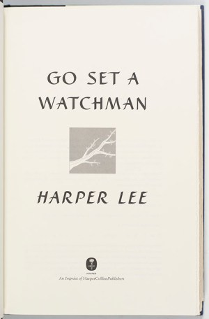 Go Set A Watchman.