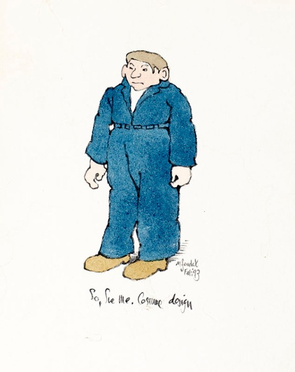 "Maurice Sendak ""So Sue Me"" Signed Original Costume Design."