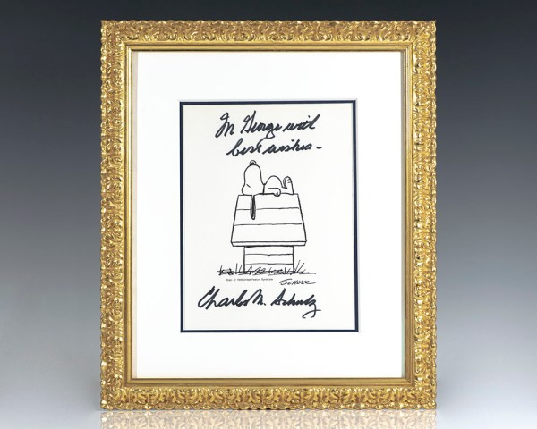 Charles Schulz Signed Snoopy Print.