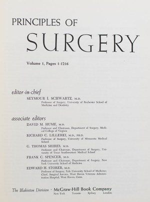 Principles of Surgery.