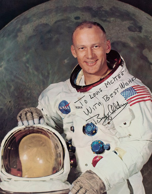 Buzz Aldrin Signed Photograph.