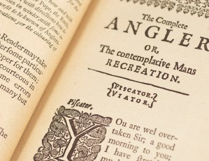 The Complete Angler; or, The Contemplative Man's Recreation. [Fore-Edge Painting].
