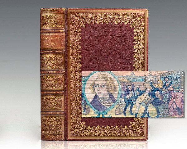 The Posthumous Papers of the Pickwick Club. [Fore-edge Painting].
