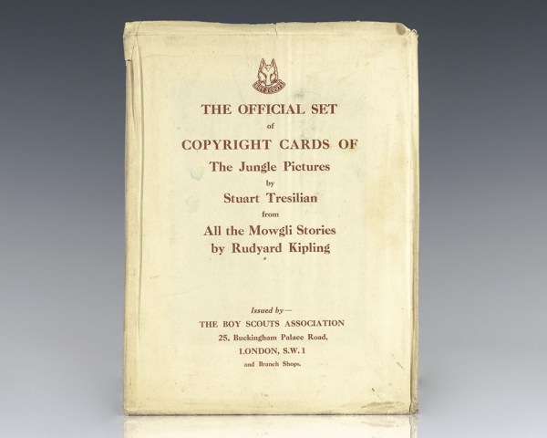 The Official Set of Copyright Cards of The Jungle Pictures by Stuart Tresilian from All the Mowgli Stories by Rudyard Kipling.