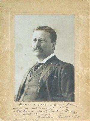 Theodore Roosevelt Signed Portrait.