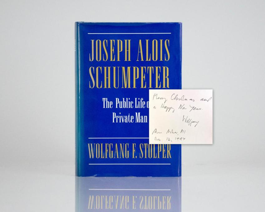 Joseph Alois Schumpeter: The Public Life of A Private Man.