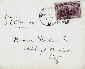 Mark Twain Autographed Letter Signed To Bram Stoker.