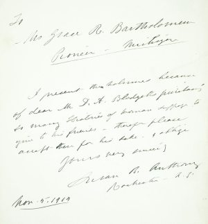 Life and Work of Susan B. Anthony.