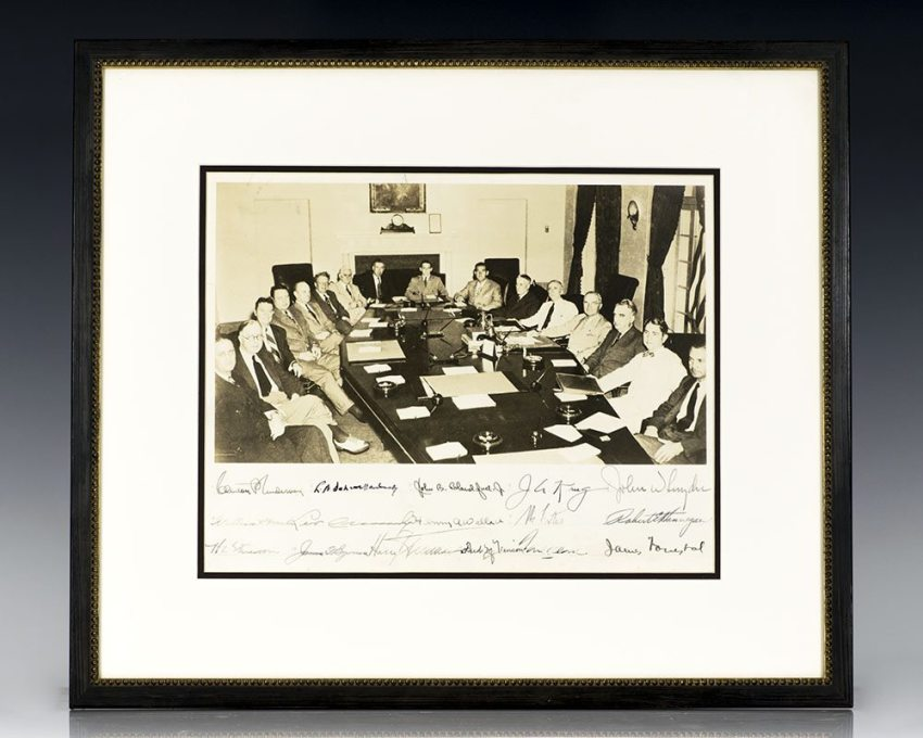 Harry Truman and His Cabinet Signed Photograph.
