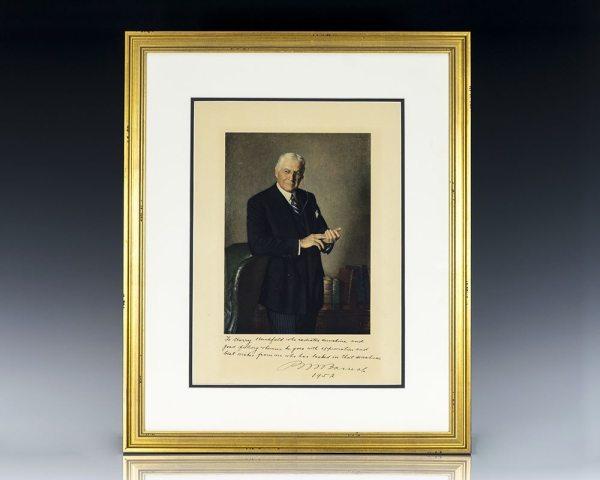 Bernard Baruch Signed Portrait.