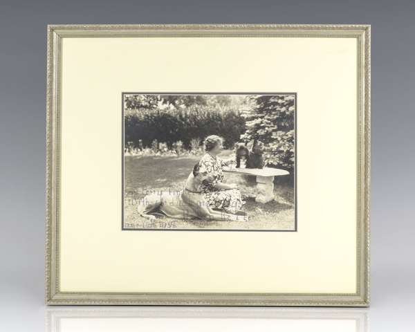 Helen Keller Signed Photograph.