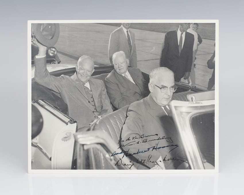 Herbert Hoover and Dwight D. Eisenhower Signed Photograph.