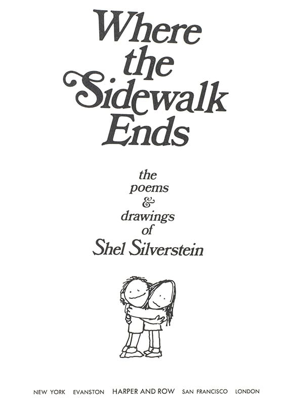 Poems Silverstein Serious Shel