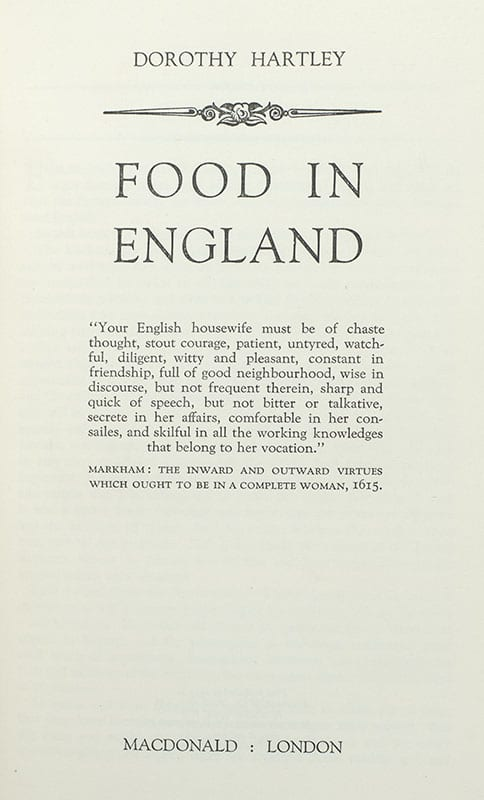 Food In England.