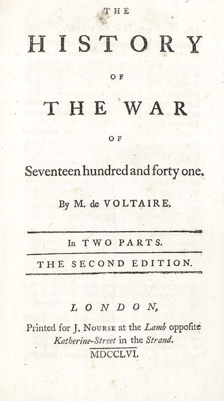 The History of the War of Seventeen Hundred and Forty One.