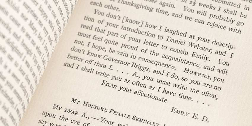 Letters of Emily Dickinson.