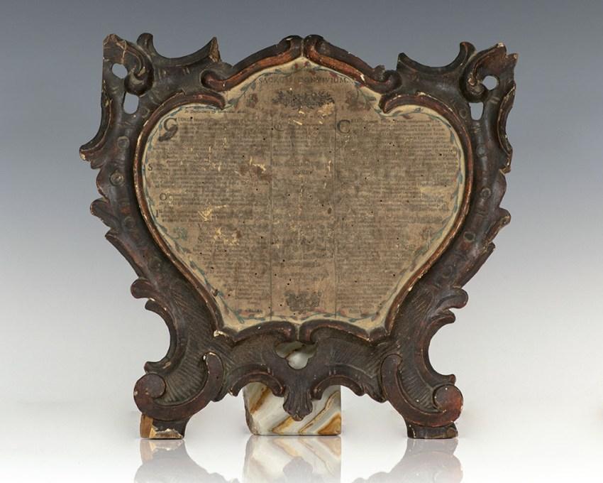 Rare 18th Century Heart-Shaped Christian Broadside.