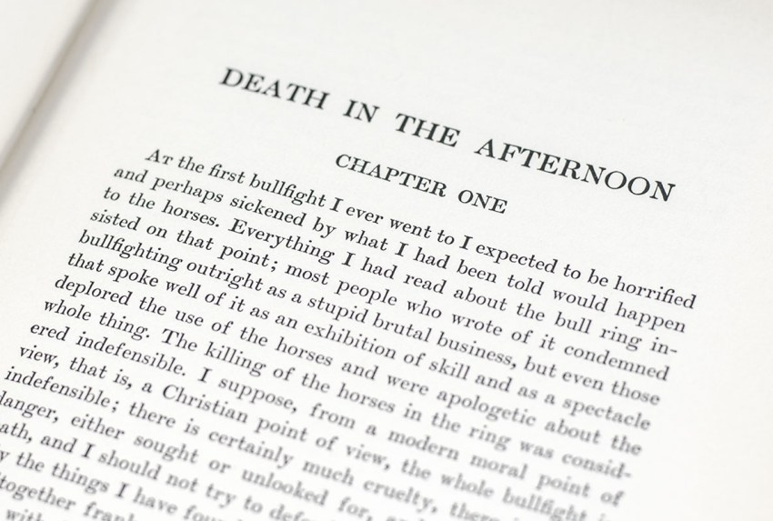 Death in the Afternoon.