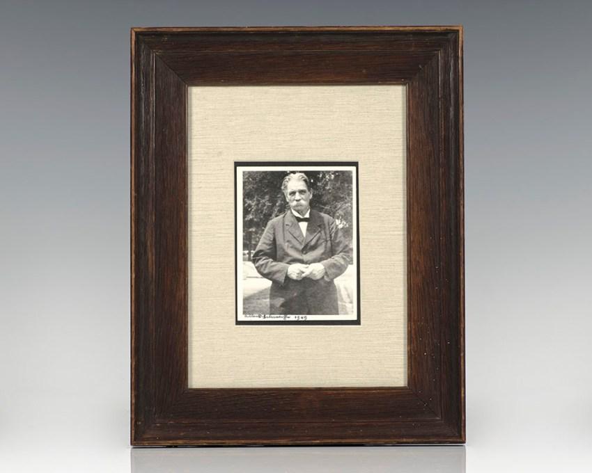 Albert Schweitzer Autograph Signed Photograph.