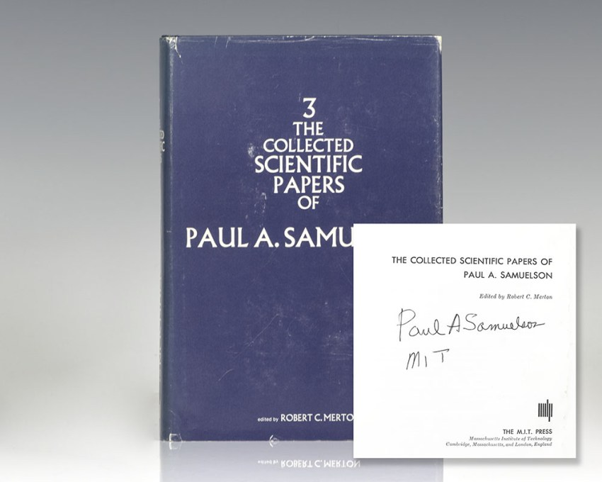 The Collected Scientific Papers of Paul A. Samuelson. Volume III.