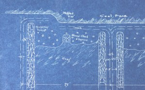 1910 Unique Study of the Engineering and Design of Coal Mines, 19 pp. Blue Prints, Five Original Photographs.