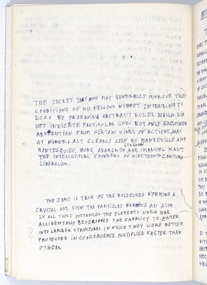A Disquisition on the Reactionary and Counter-Scientific Character of the Socialist Conception F. A. Hayek Autograph Manuscript.