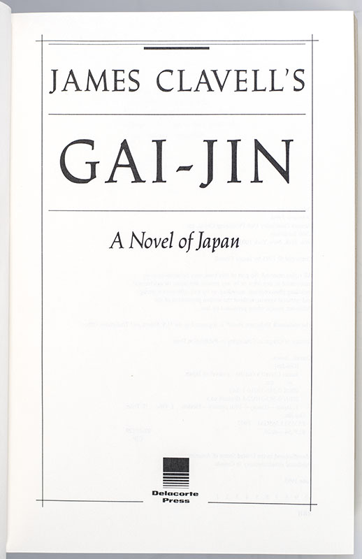 Gai-Jin: A Novel of Japan.