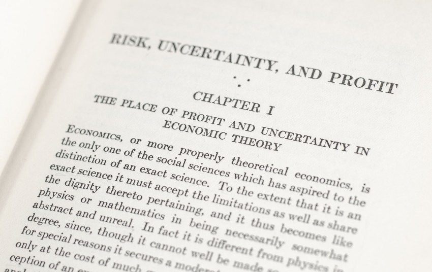 Risk, Uncertainty, and Profit.