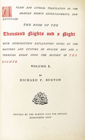 The Book of the Thousand Nights and a Night.