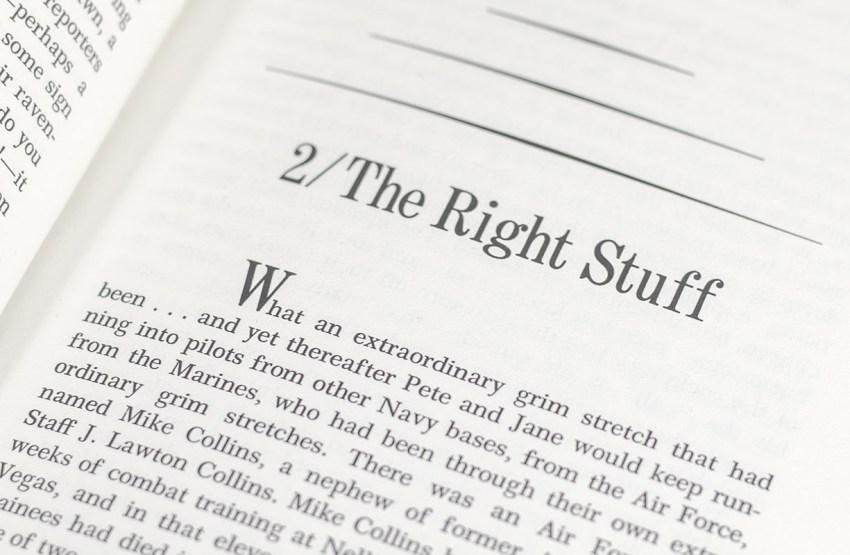 The Right Stuff.