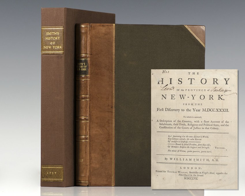 The History of the Province of New-York from the First Discovery to the Year MDCCXXXII.