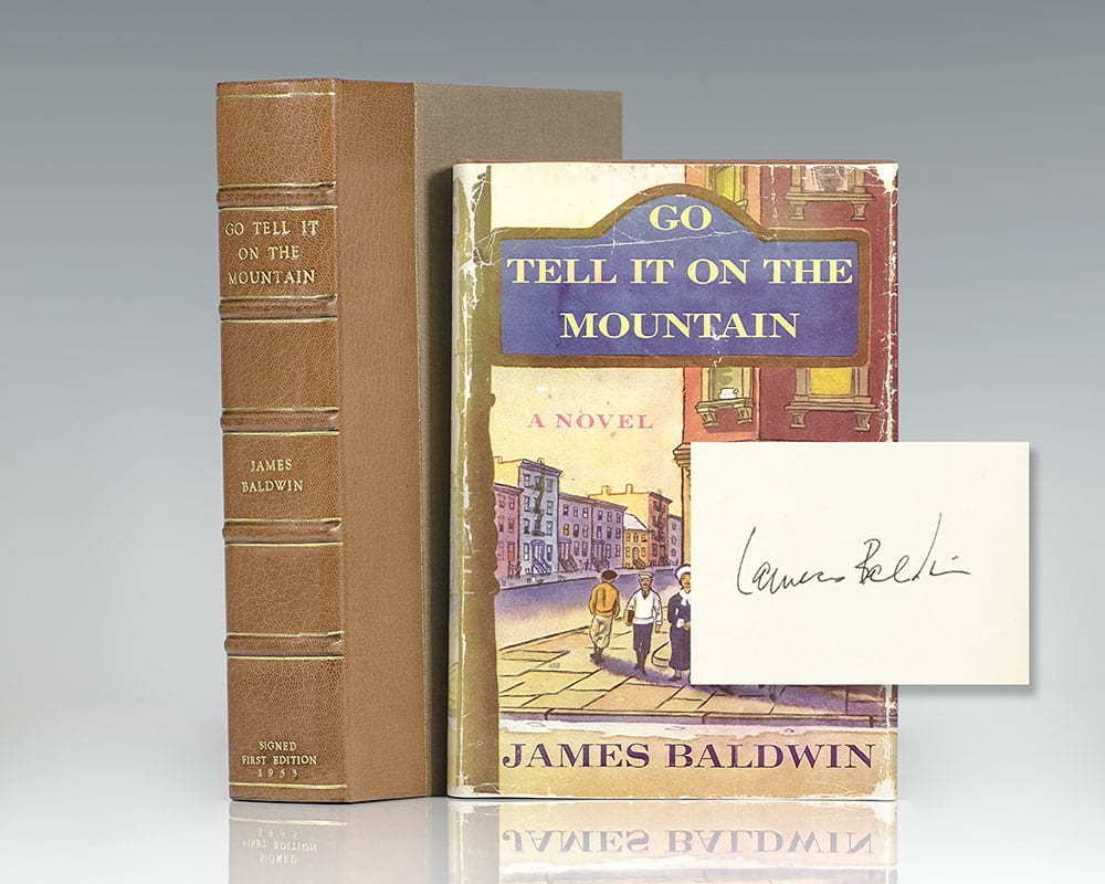 First edition of James Baldwin's Go Tell It On The Mountain; signed by him