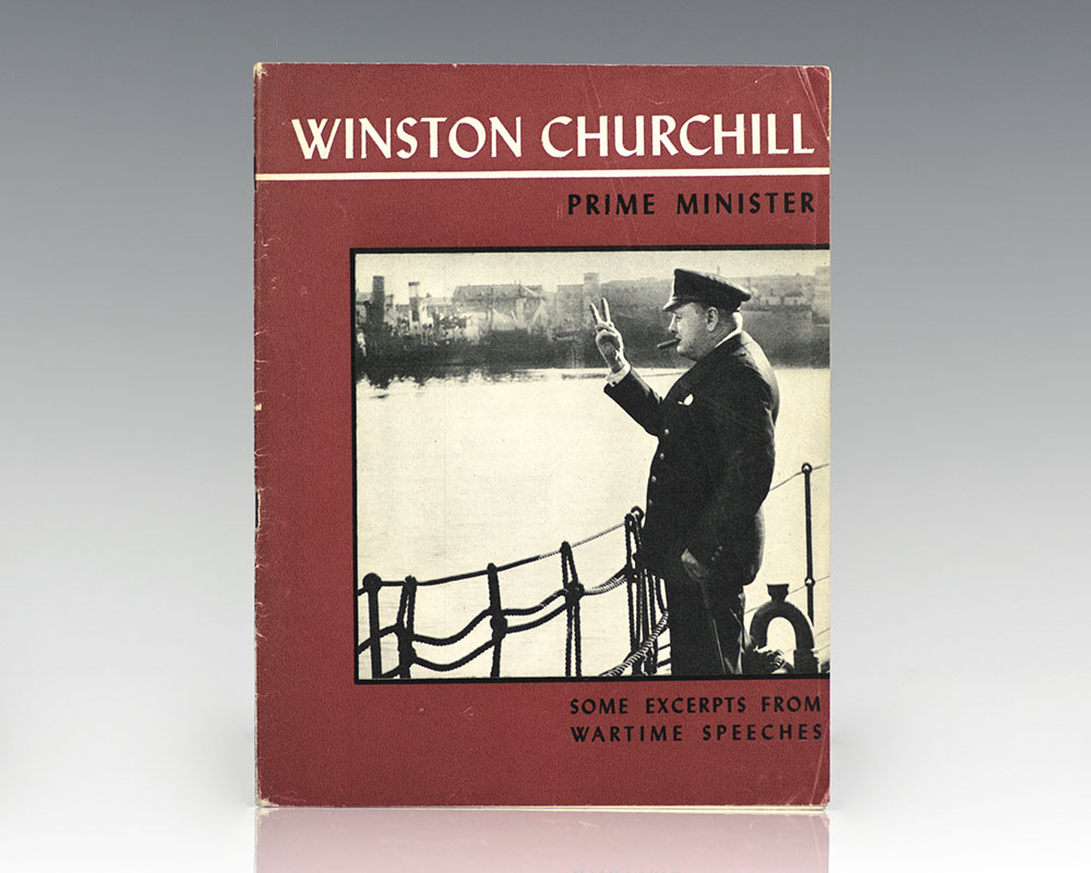 Rare first edition pamphlet of Churchill's Wartime Speeches