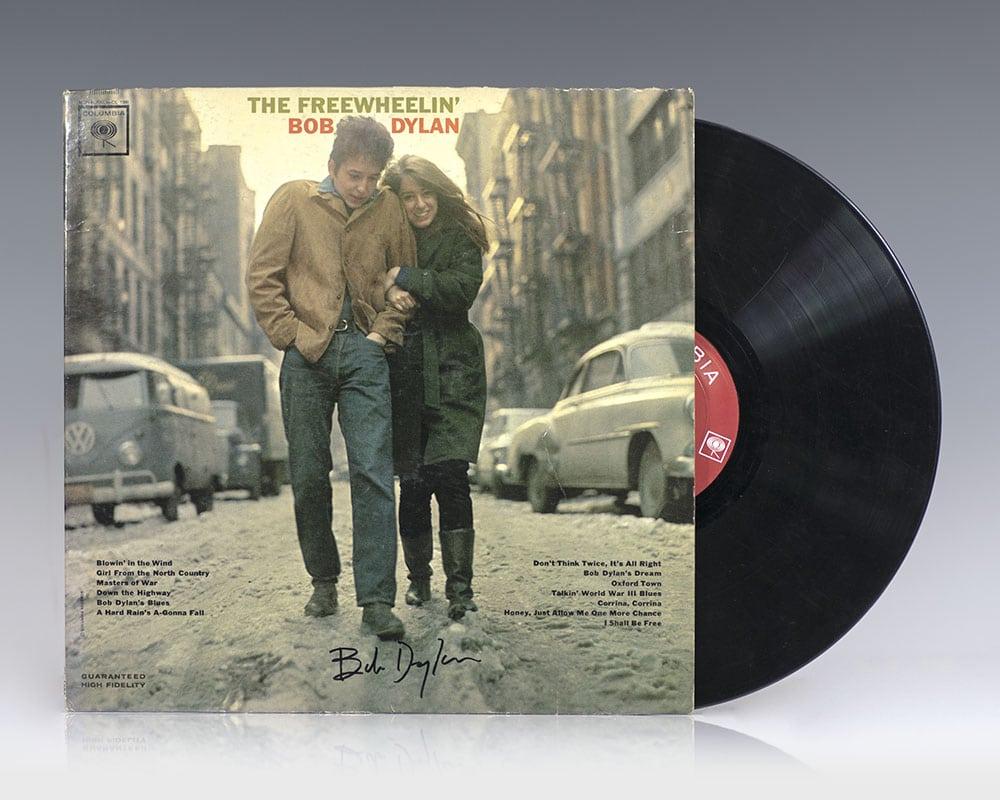 The Freewheelin Bob Dylan; signed by Bob Dylan