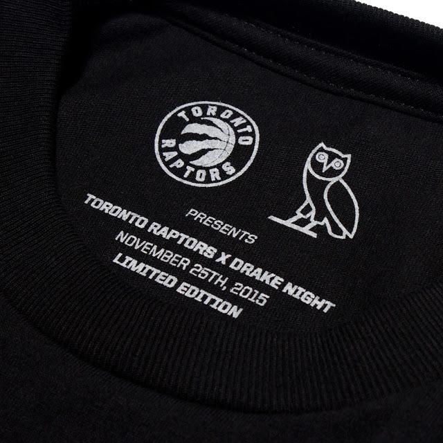 Toronto Raptors X Ovo Release Limited Edition Drake Night Gear