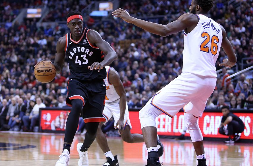 Pascal Siakam does basketball