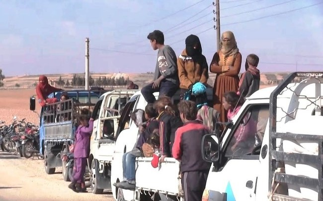 Eastern Raqqa experiencing displacement toward the desert