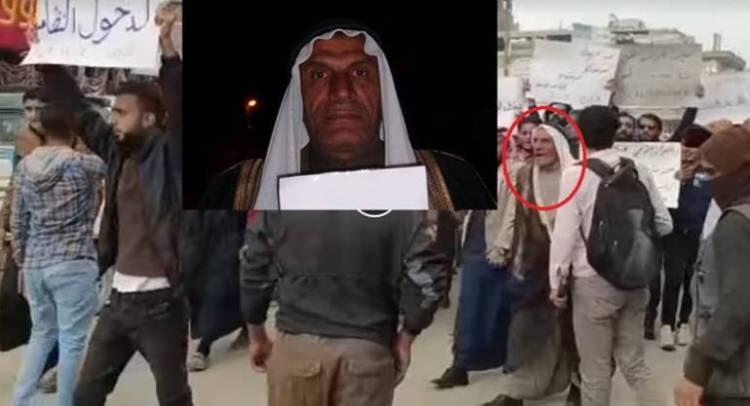 """بعد 6 سنوات من التبول على صنم حافظ الأسد.. """"أبو طه"""" يتقدم مظاهرات الرقة"""